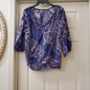 G.H. Bass & Co blouse is size small